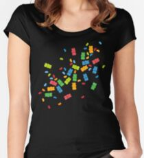 Jelly Beans & Gummy Bears Explosion Women's Fitted Scoop T-Shirt