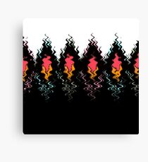 Colorful black and white pattern . Canvas Print