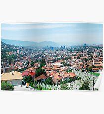 Sarajevo Skyline Poster