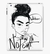 Cute Girl Sketch   NoPoint iPad Case/Skin