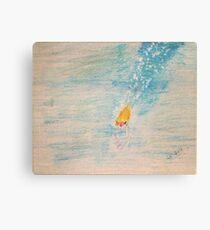 Diving into sea Canvas Print