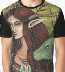 """GreenWood Fae"" Graphic T-Shirt"