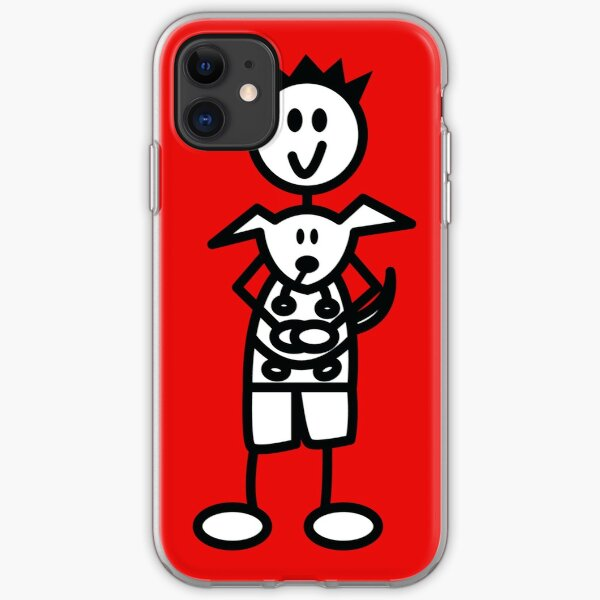 The boy with the spiky hair - red iPhone Soft Case