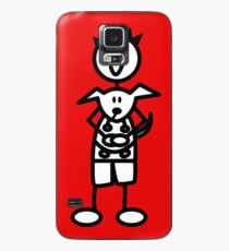 The boy with the spiky hair - red Case/Skin for Samsung Galaxy