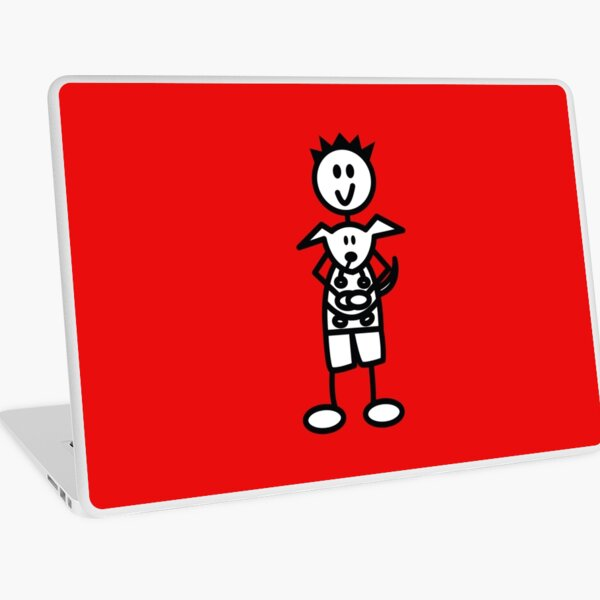 The boy with the spiky hair - red Laptop Skin