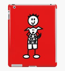 The boy with the spiky hair - red iPad Case/Skin