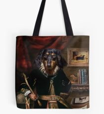 Andy the Long haired Daschund Tote Bag