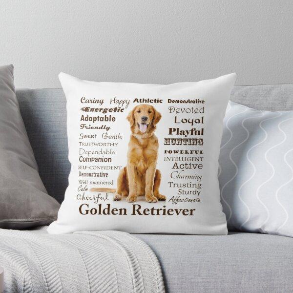 Golden Retriever Traits Throw Pillow