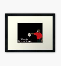 charlie strong Framed Print