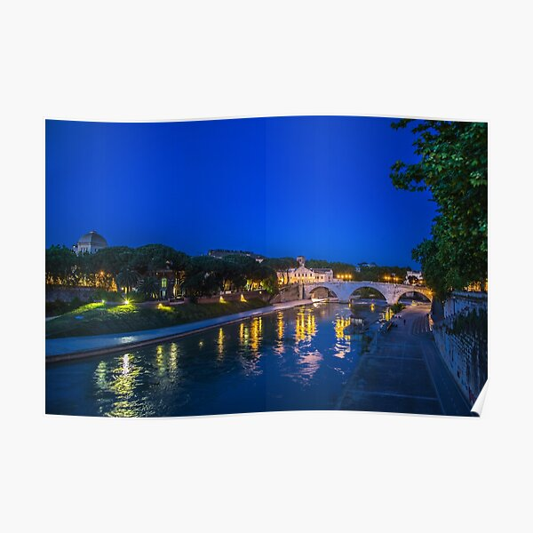 Evening stroll at Rome Poster