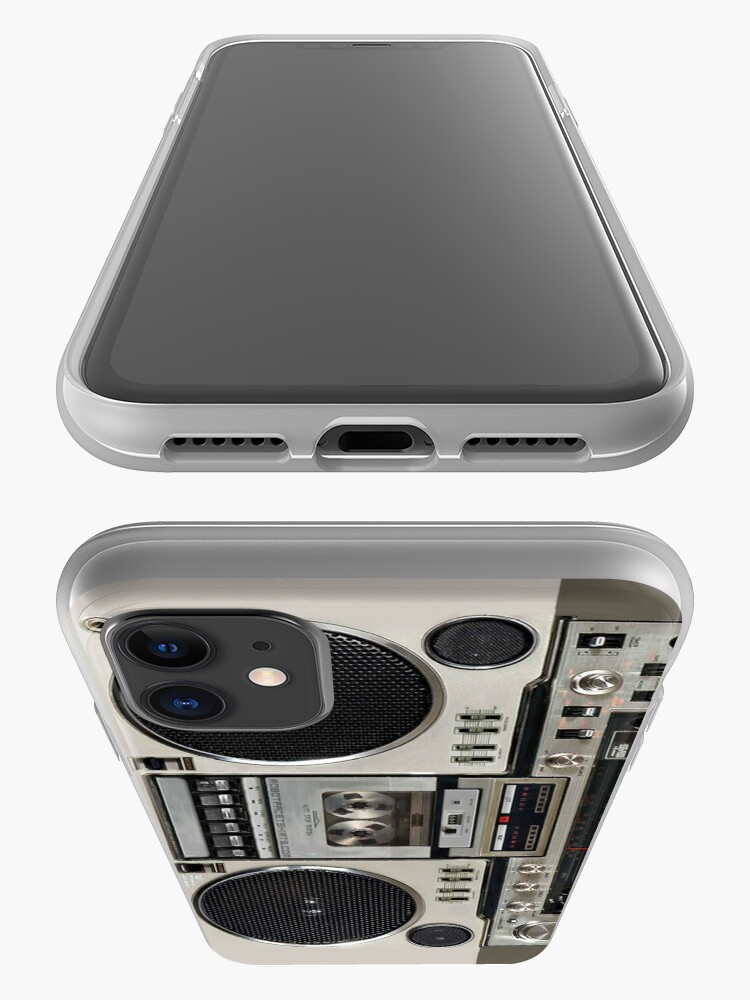 Alternate view of Vintage 80s Boombox Ghettoblaster iPhone Case & Cover