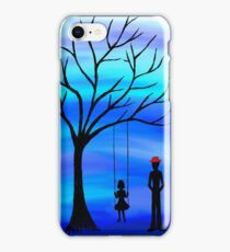 Father and Daughter Blue iPhone Case/Skin