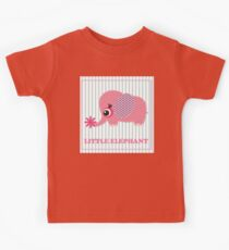 Cute girl elephant illustration for apparel or other uses,in vector. Baby showers, parties for baby girls. Kids Clothes