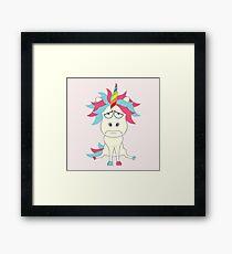 Crazy Unicorn - Grumpy Edition Framed Print