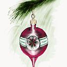 Magenta Christmas Bauble by Rasendyll