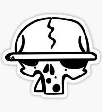 Bored Skull Sticker