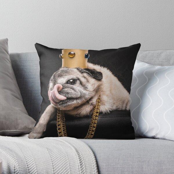 The Pug Life - Notorious P.U.G Throw Pillow