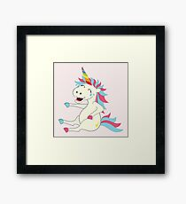 Crazy Unicorn - Hilarious Edition Framed Print