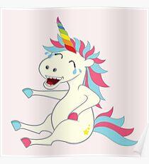 Crazy Unicorn - Hilarious Edition Poster