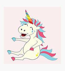 Crazy Unicorn - Hilarious Edition Photographic Print