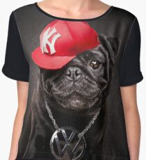 The Pug Life - MC Beastie Women's Chiffon Top