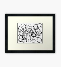 Arrival Movie Circle Language Weapon Framed Print