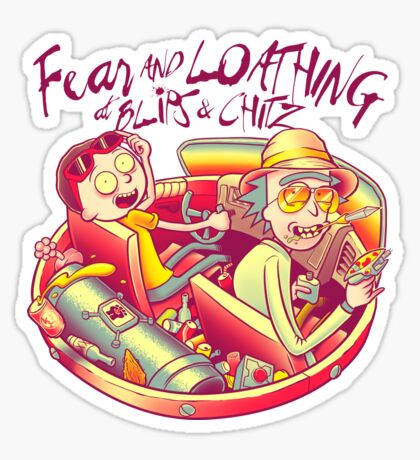 Fear and Loathing at Blips & Chitz Sticker
