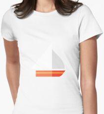 Nautical - Sailboat Women's Fitted T-Shirt