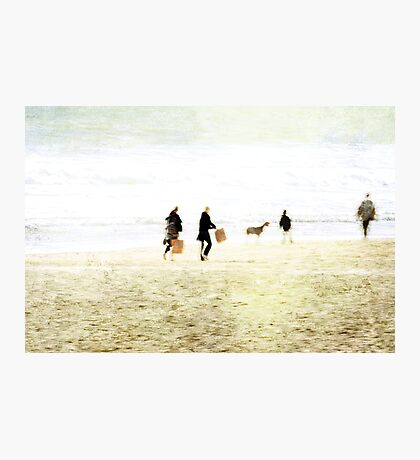 Family On The Beach Photographic Print