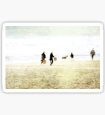 Family On The Beach Sticker