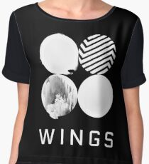 BTS Wings Logo (Black) Chiffon Top