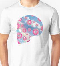 Pink Molly Donut Skull Unisex T-Shirt