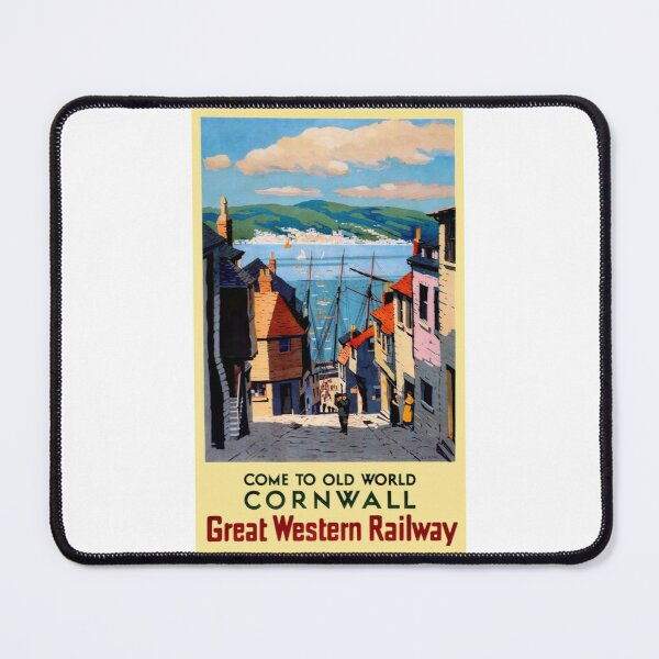 Vintage Great Western Railway travel poster for Cornwall Mouse Pad