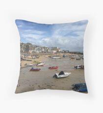 St Ives Beach, Cornwall Throw Pillow