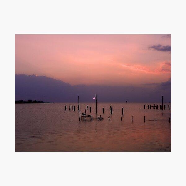 Tangier Sound Sunset Photographic Print