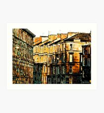 park road from kelvingrove Art Print