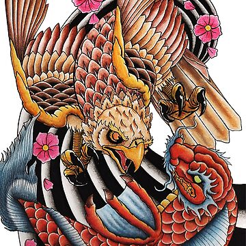 Golden Hawk VS Koi Dragon by ColeC