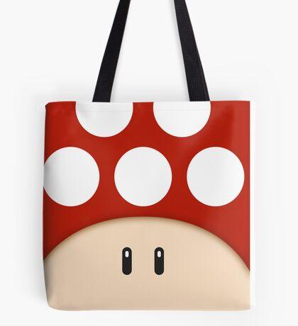 Red Super Mushroom Tote Bag