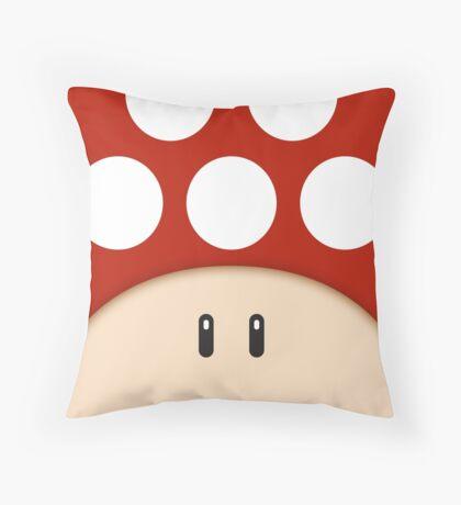 Red Super Mushroom Throw Pillow