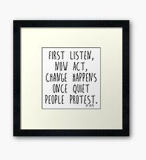 Quiet People Framed Print
