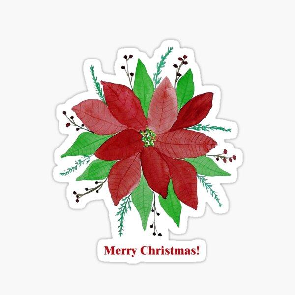 Merry Christmas Card  Sticker