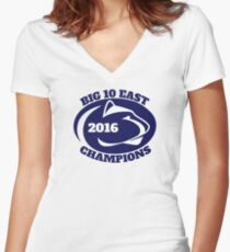 Penn State Football Big Ten East Champions Women's Fitted V-Neck T-Shirt