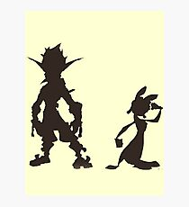 Jak and Daxter: The Precursor Legacy Silhouette Photographic Print