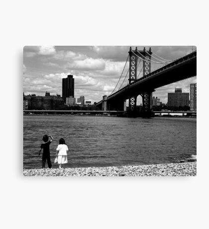 Our First Date Canvas Print