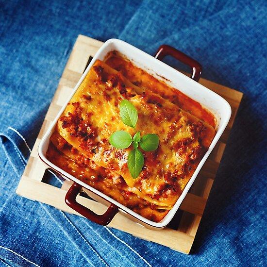 Italian Food. Lasagna plate. by dariazu