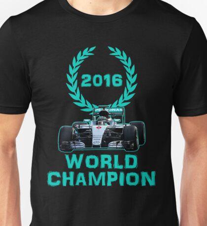 Rosberg 2016 World Champion F1 Formula 1 Unisex T-Shirt