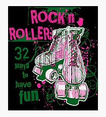 ROCKN ROLLER WAY TO HAVE FUN Cute Soft Screen Printed Summer Graphic Gift Tshirt Photographic Print
