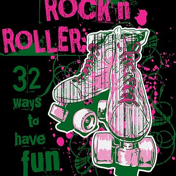 ROCKN ROLLER WAY TO HAVE FUN Cute Soft Screen Printed Summer Graphic Gift Tshirt by WelderSurgeon