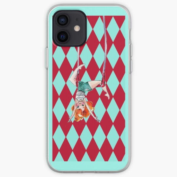 Trapeze Girl Kay on Harlequin Print iPhone Soft Case