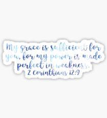 2 Corinthians 12:9 Sticker